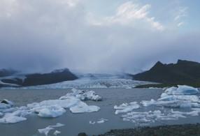 Climate change glacier melt